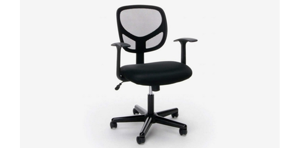 Review 15 Kursi Kantor Terbaik Essentials Swivel Mid Back Mesh Task Chair with Arms