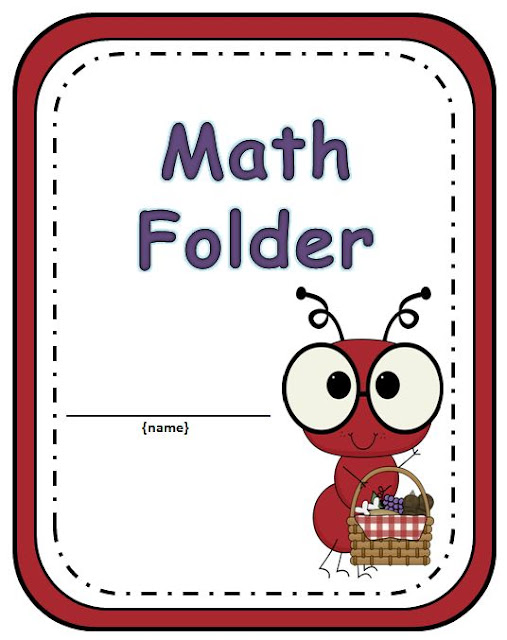 Your students will love getting organized with this adorable Ant Math Folder.