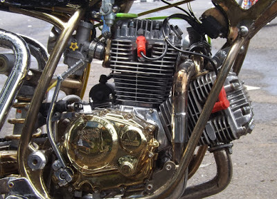 mesin motor double cylinder