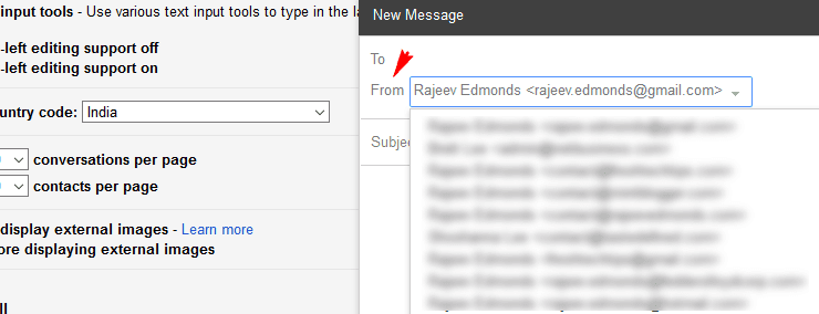 Email aliases within Gmail inbox