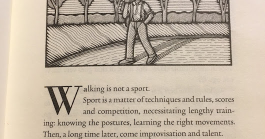 The Philosophy of Walking. Chapters 1, 2, 4, 7, 9, 12, & 19.