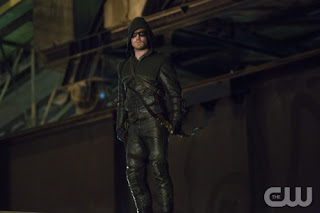 "Stephen Amell as Arrow in Arrow Episode # 2 ""Honor Thy Father"""
