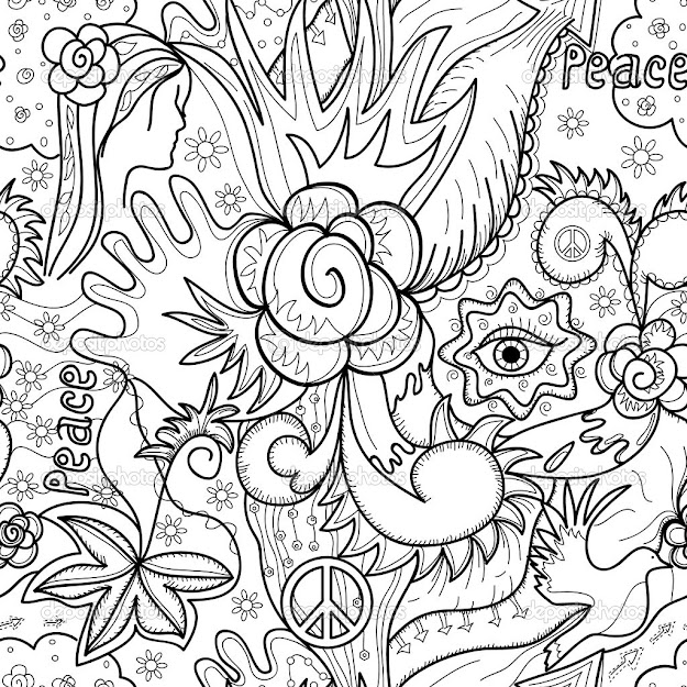 Printable Coloring Pages For Adults Abstract Flowers  Coloring Tone