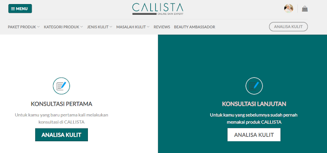 Cara Analisa Kulit di Callista Online Skin Expert