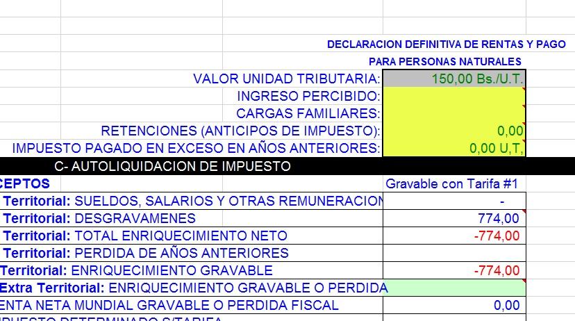 Ciudadanos Calcule el ISLR en Excel (Descargar Hoja de Cálculo +