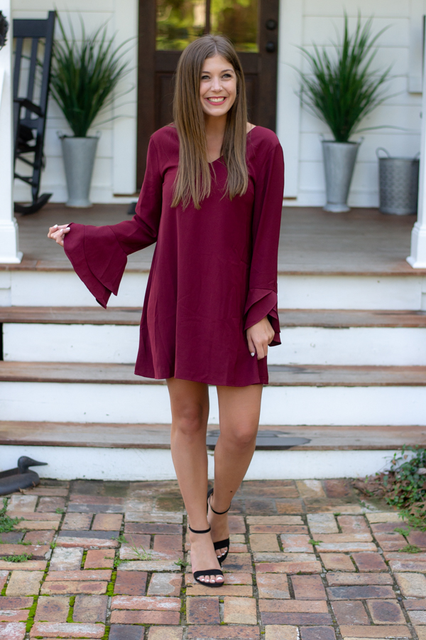 Garnet Dress For College Football Game | Chasing Cinderella