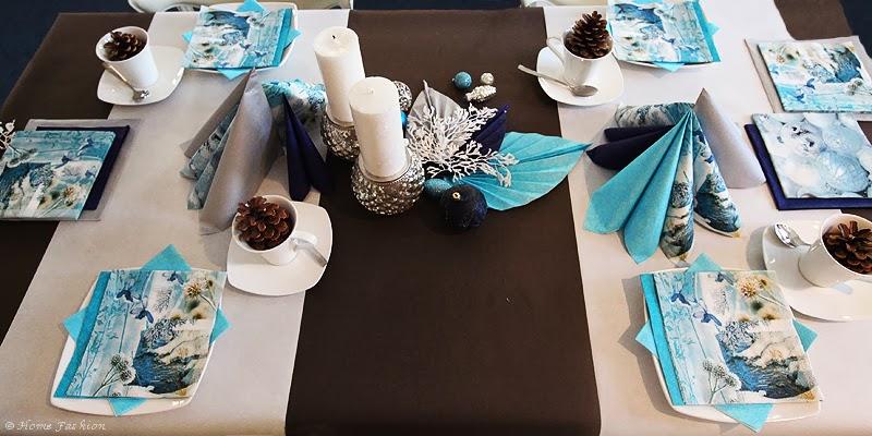 Tischdekoration Winterzeit Home Fashion Servietten Und