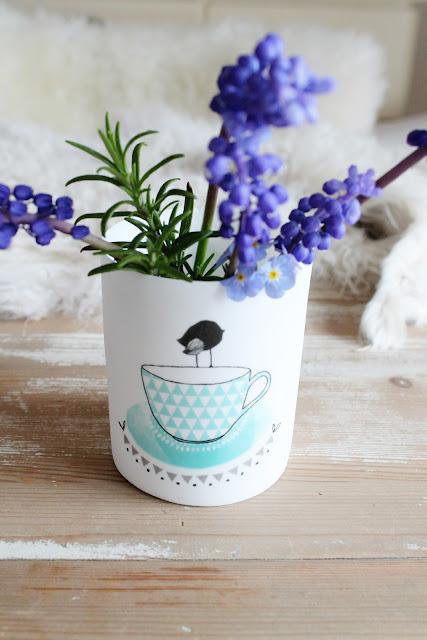 Bloomingville Teelicht Vogel Teetasse