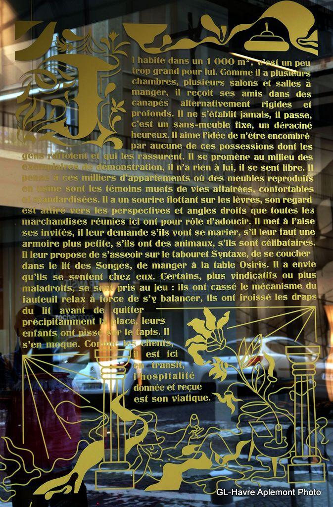 Havre aplemont photo anecdotes en vitrine chez le - Marchand de meubles ...