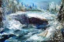 oil painting The First Thaws
