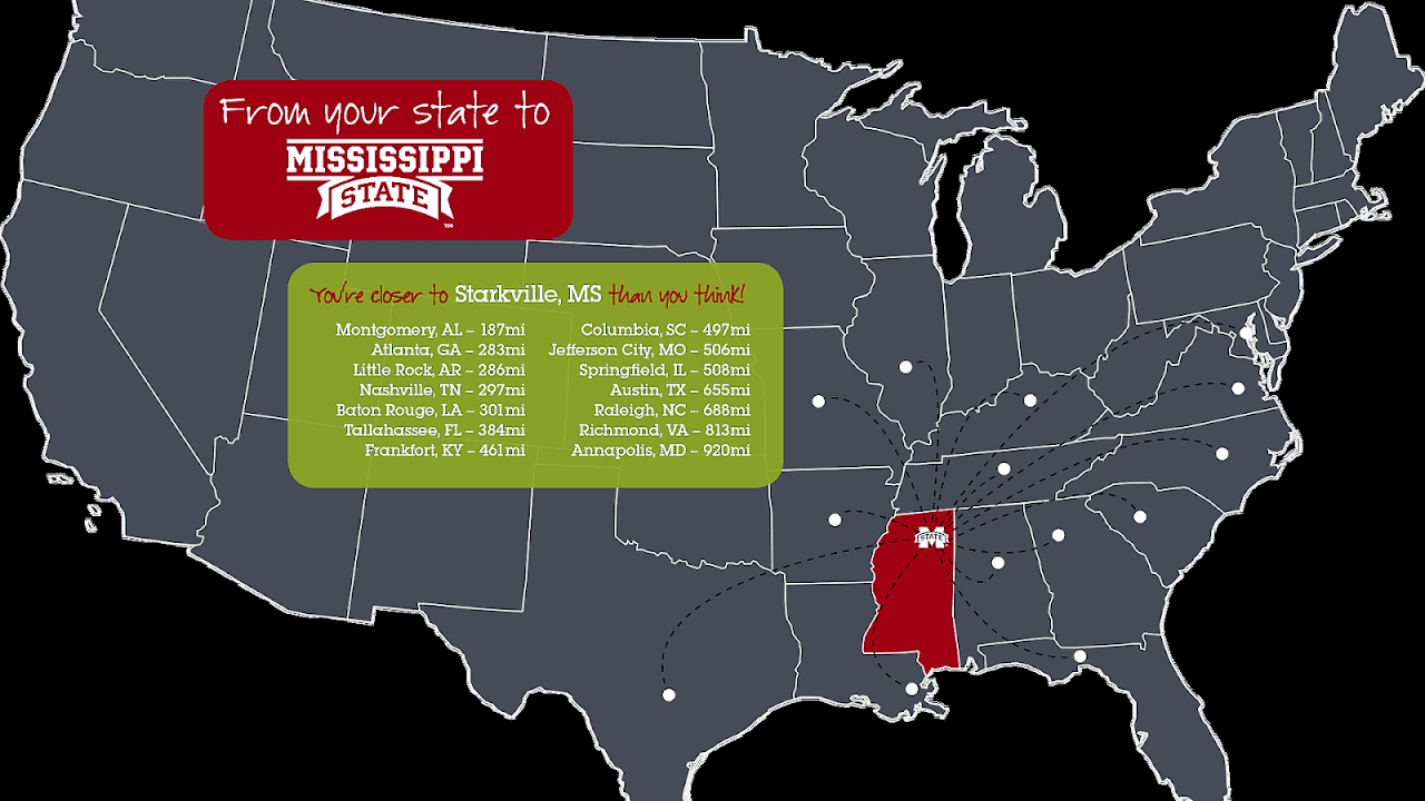 Mississippi State University Map - University Choices on