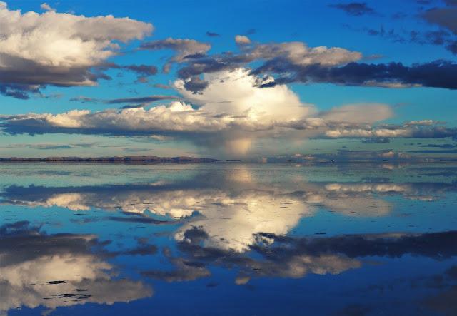 Salzwüste, Wasserspiegelung