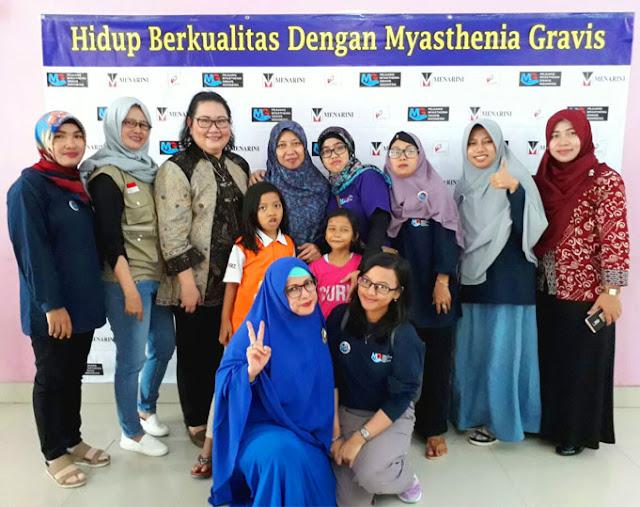 Di Bekasi Para Pejuang Myasthenia Gravis Indonesia (PMGI) Bersilarutahim