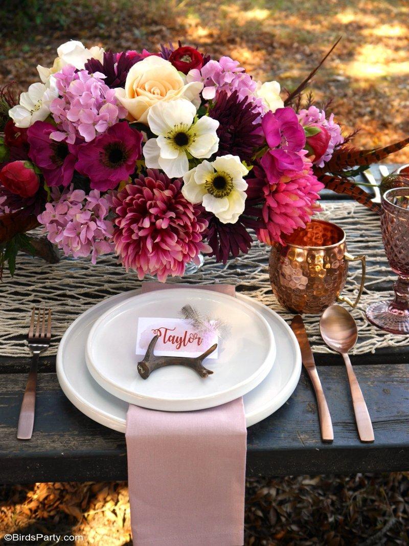 My Al Fresco Boho Chic Thanksgiving Table Party Ideas Party
