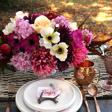 My Al Fresco Boho Chic Thanksgiving Table