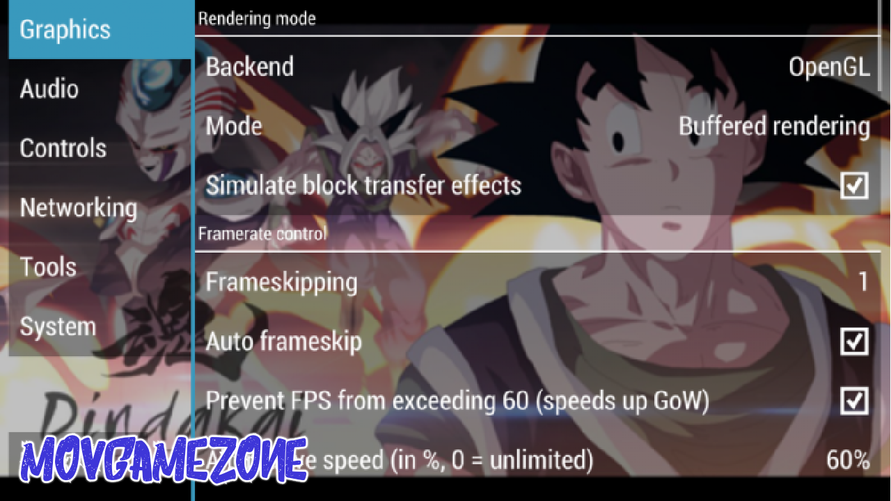 Best PPSSPP Setting Of Dragon Ball Abzalon Black Mod Gold