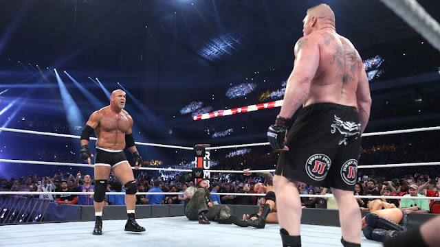 Goldberg humiliates Brock Lesnar for a second time at WWE Royal Rumble 2017