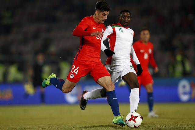 Chile y Burkina Faso en partido amistoso, 2 de junio de 2017