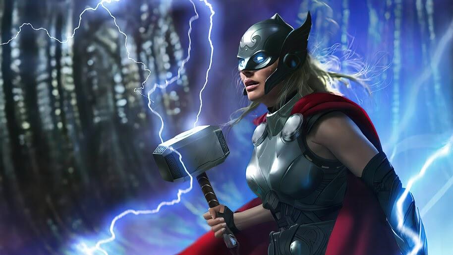 Jane Foster, Thor, Hammer, Lightning, 4K, #6.1979
