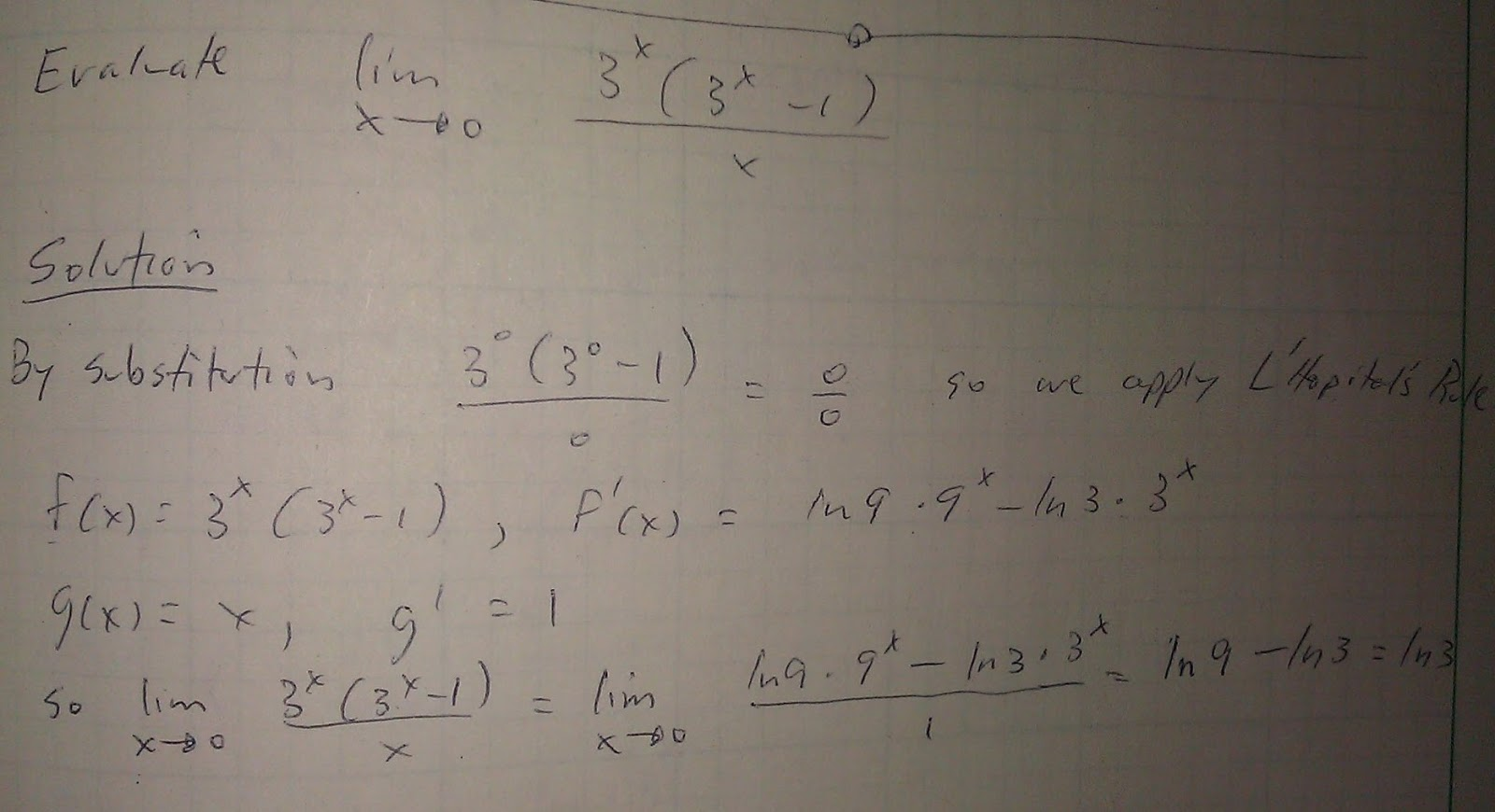 Examples Of Math Problems Limit Of An Exponential Function