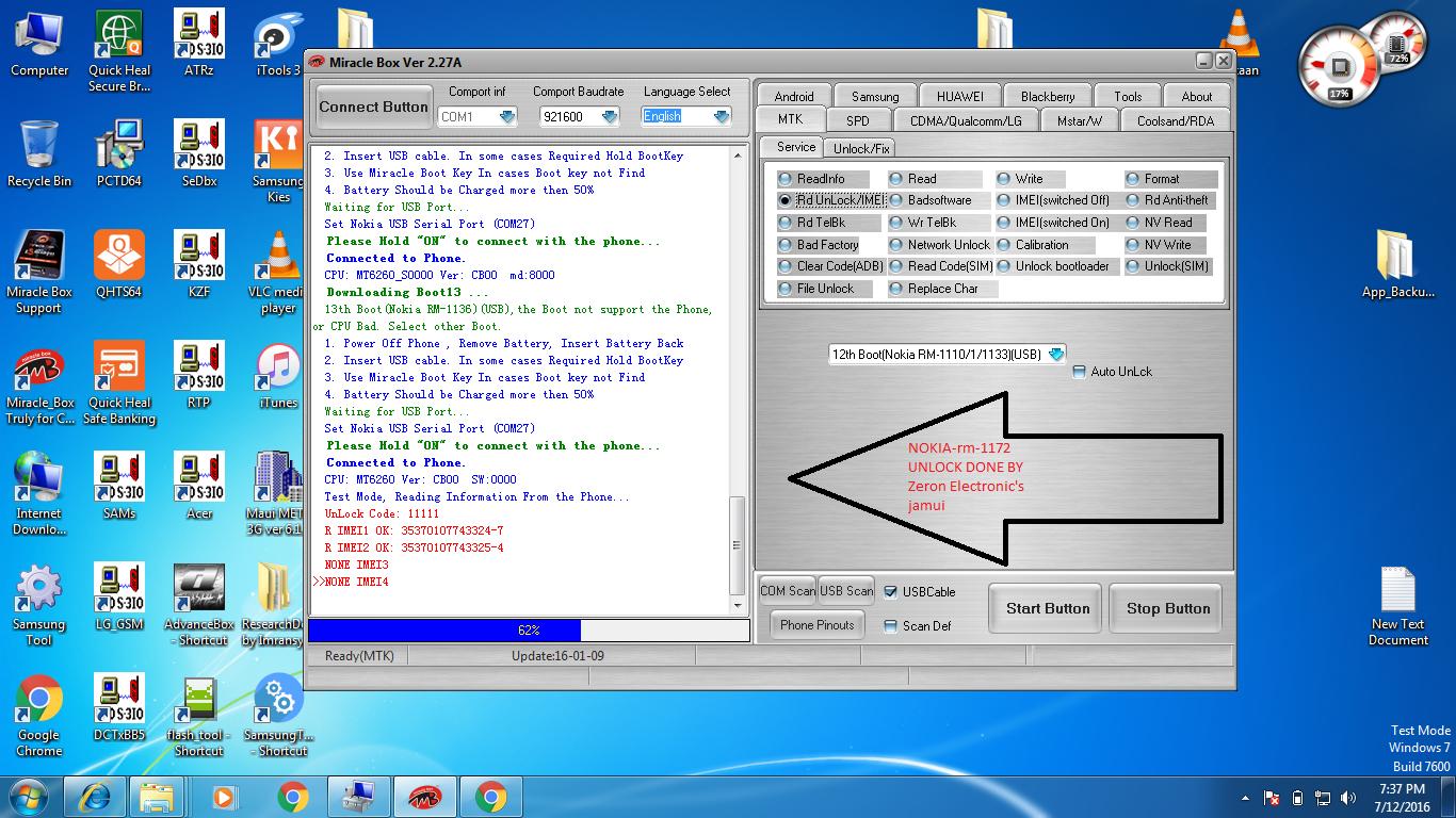 world first RM-1172 nokia 230 sim lock unlock with miracle 2.27A creck  Regarding.............. KKC world