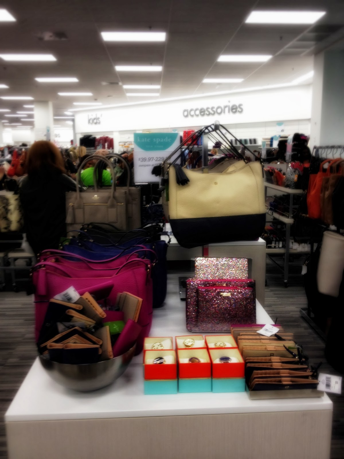 Expect to find a large assortment of Kate Spade handbags, wallets, and  accessories at the new Nordstrom Rack Culver City.