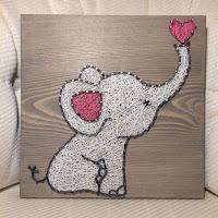 elefante string art