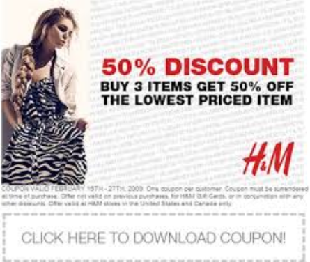 photo about H and M Printable Coupons known as HM Printable Discount coupons August 2015