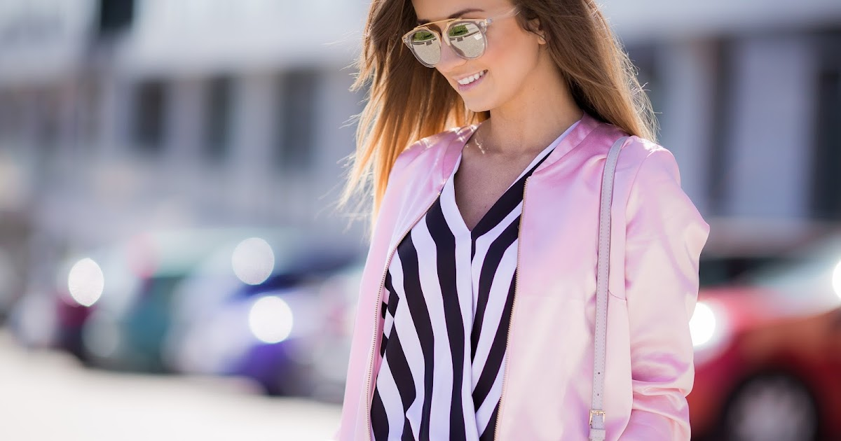 Pastelowy Bomber Jacket Modern Romantic Style Styloly Blog By Aleksandra Marz Da