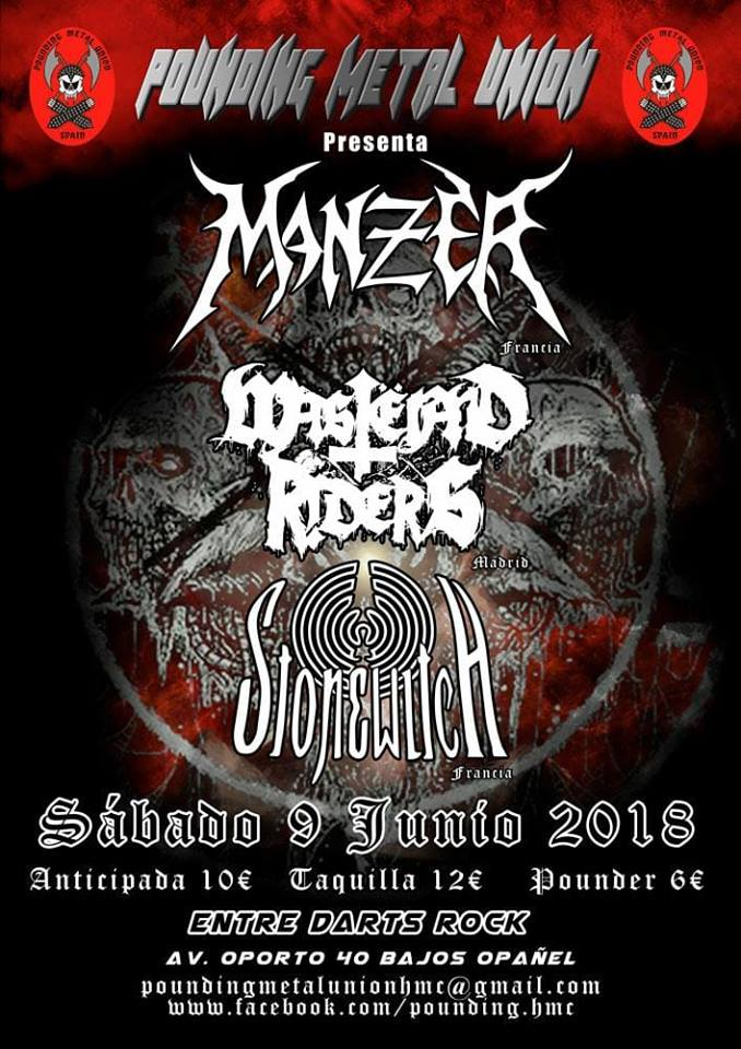 MANZER + WASTËLAND RIDERS + STONEWITCH