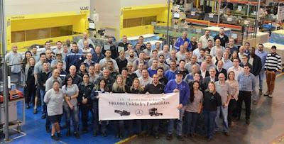 Mercedes-Benz exporta140 mil veículos semidesmontados fabricados no Brasil