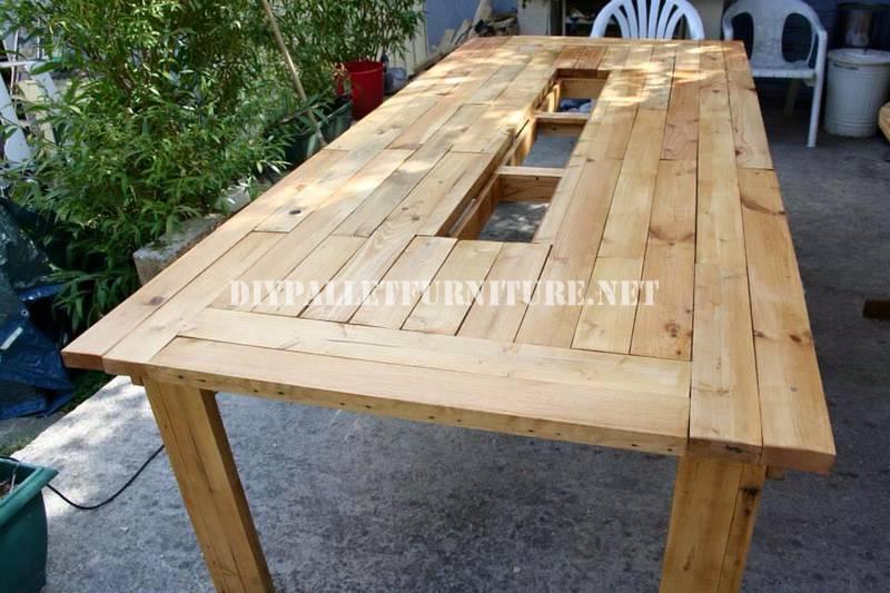 Mesa cubitera con palets for Mesa de comedor con palets
