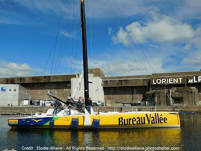 Bureau Vallée 2, ex Banque Populaire, nouveau bateau de Louis Burton
