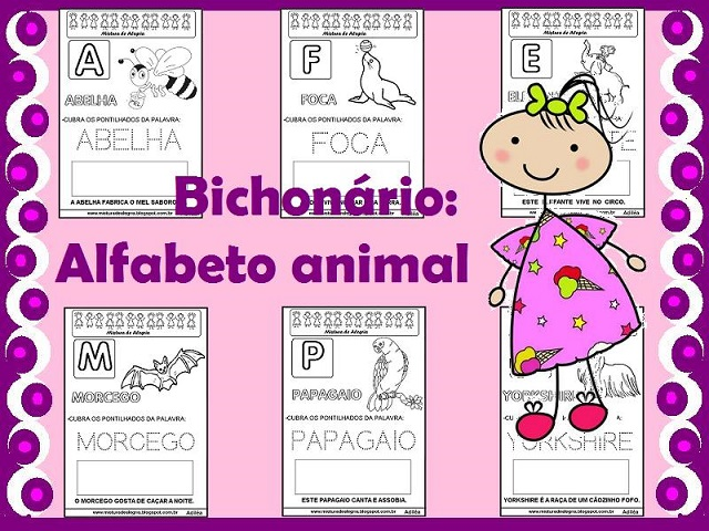 Bichonario Alfabeto Animal Para Alfabetizacao Mistura De Alegria