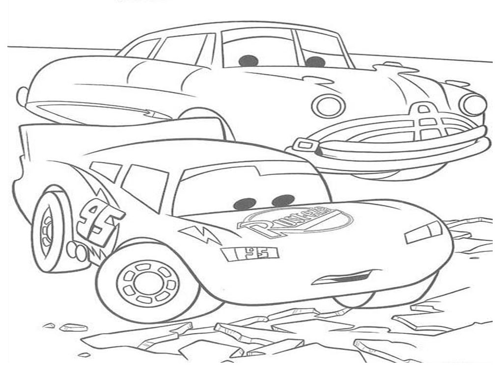 Gambar Lightning Mcqueen Coloring Pages Sun Flower Photo 10
