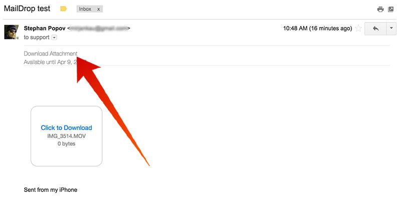 download mail drop file