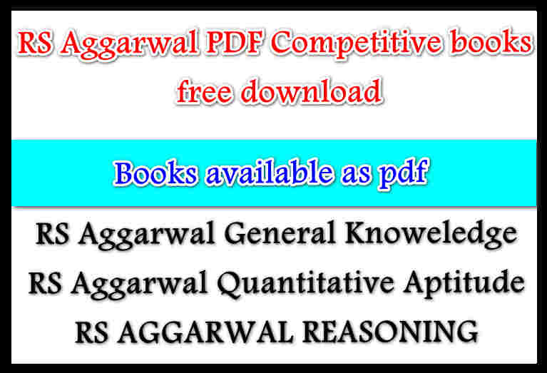 Pdf aptitude books