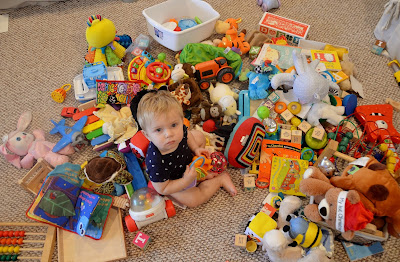 giant pile of toys