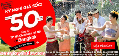 Vé máy bay khuyến mãi hè của Air Asia đến Bangkok