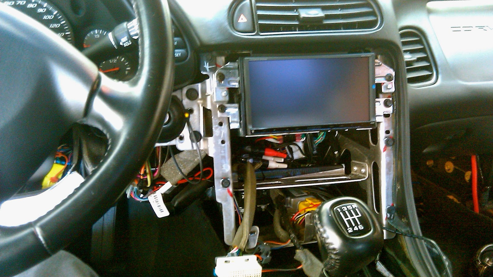1997 F150 Radio Wiring Diagram 2016 Nissan Patrol 1997-2004 C5 Corvette Double Din/in-dash Car Stereo Install, Yes It Is Possible! ~ Automotive Zone