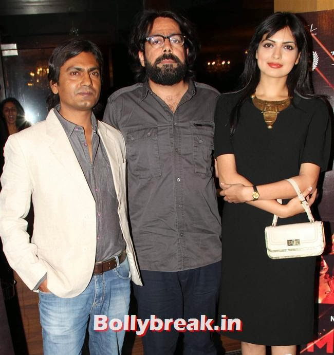 Nawazuddin Siddiqui, Aushim Alhuwalia and Niharika Singh, Niharika Singh at Miss Lovely First Look Launch