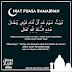 Cara Niat Puasa Ramadhan, Doa Buka Puasa Serta Panduan Solat Tarawih Dan Witir