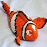 patron gratis pez Nemo amigurumi, free pattern amigurumi Nemo fish