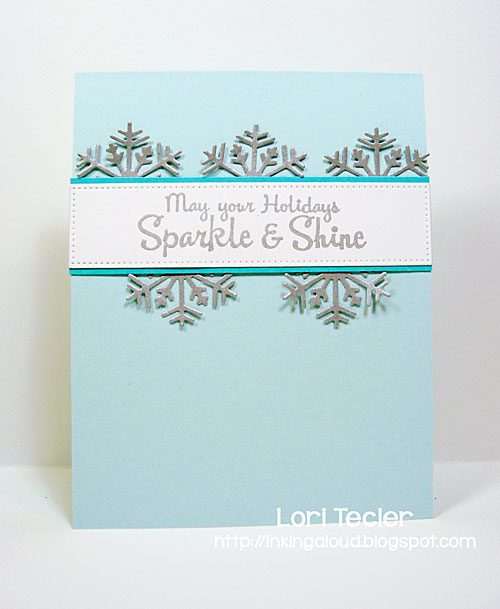 Sparkle and Shine card-designed by Lori Tecler/Inking Aloud-stamps from Lil' Inker Designs