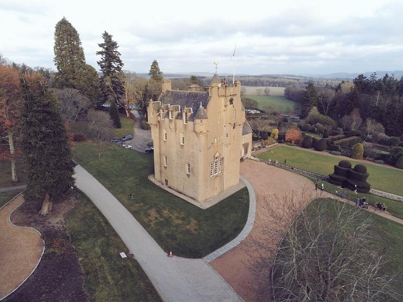 Parrot Anafi drone castle shot