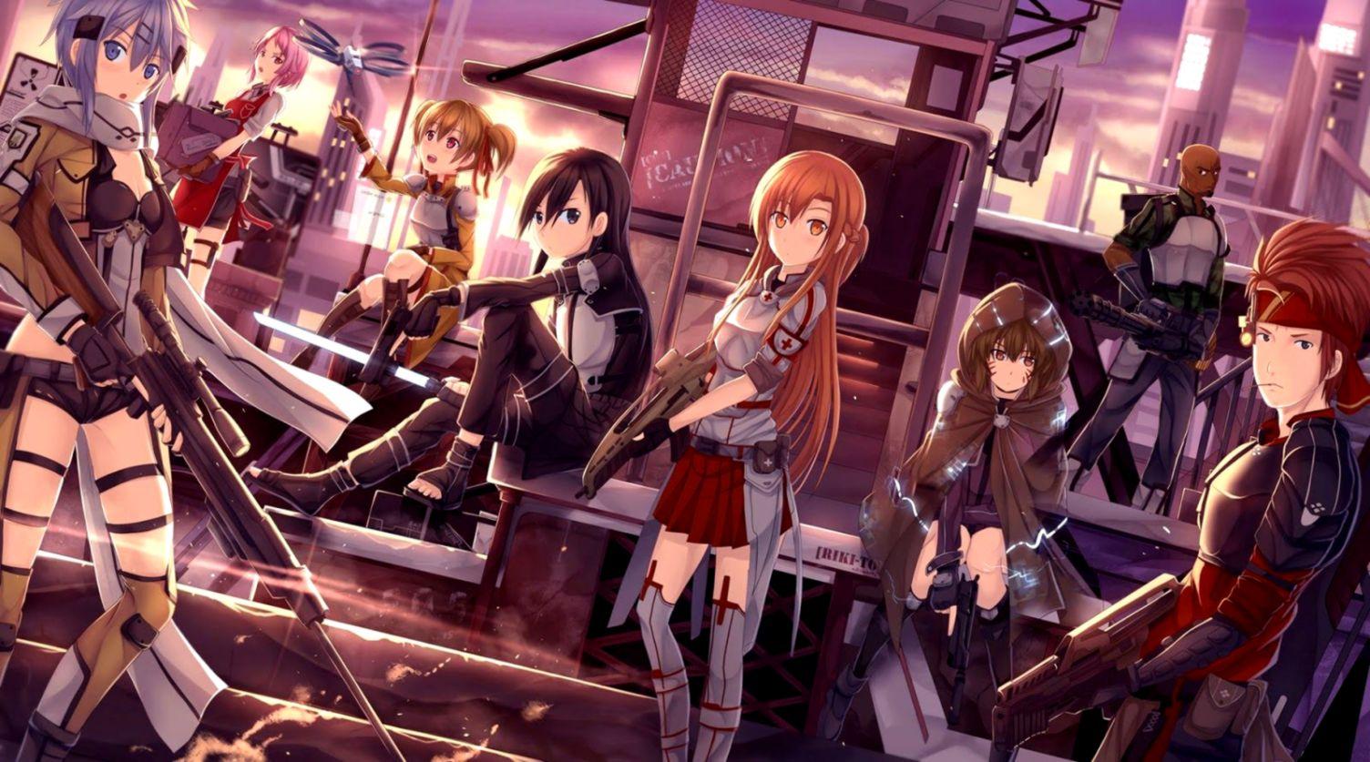 Gun Gale Online Sinon And Kirito Images Hd Wallpaper