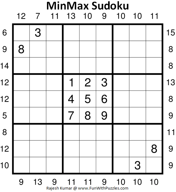 MinMax Sudoku Puzzle (Fun With Sudoku #367)