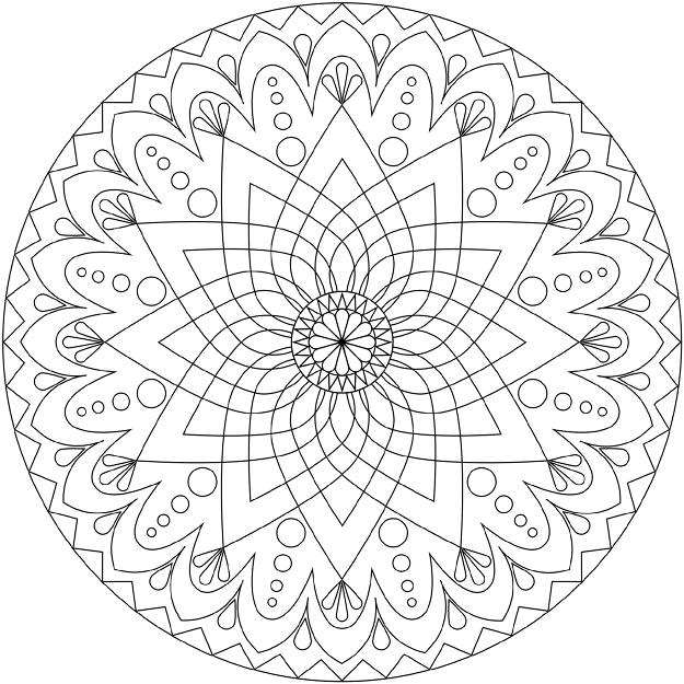 Free Printable Easy Mandala Coloring Pages At Free Printable Mandala  Coloring Pages