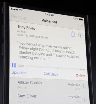 iOS 10 Voicemail Transcript