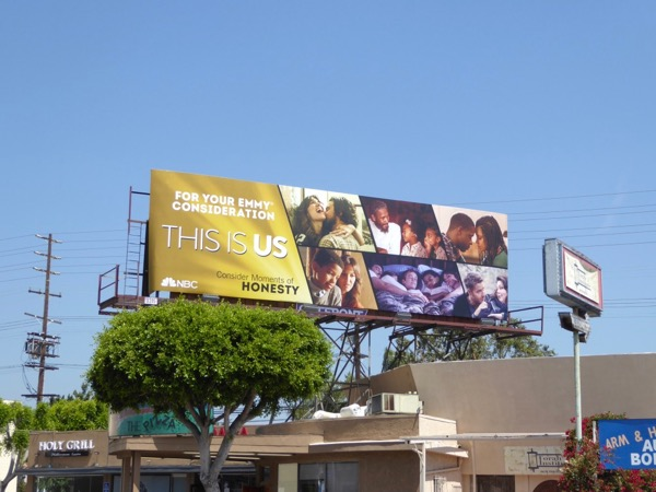 This is Us season 1 Emmy FYC billboard